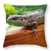 Small Lizard Throw Pillow