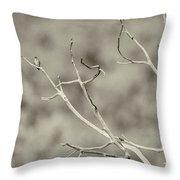 Small Lonesome Bird Throw Pillow