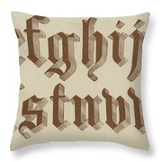 Small Old English Riband  Throw Pillow