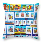 Small Paintings For Sale In La Boca Area Of Buenos Aires-argentina  Throw Pillow