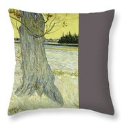 Small Pear Tree In Blossom Arles, April 1888 Vincent Van Gogh 1853  1890 Throw Pillow