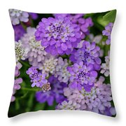 Small Pink Flowers 10 Throw Pillow