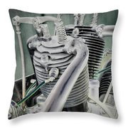 Small Radial Engine Throw Pillow by Dennis Dame