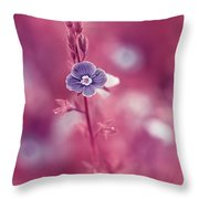 Small Romantic Violet Flower Throw Pillow