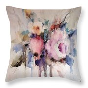 Small Roses Throw Pillow