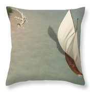 Small Sail Boat... Throw Pillow