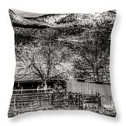 Small Stable Loveland Colorado Throw Pillow