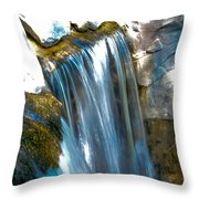 Small Stop Motion Waterfall Throw Pillow