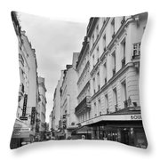 Small Street In Paris Throw Pillow