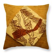 Small Time - Tile Throw Pillow