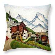Small Town Throw Pillow