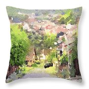 Small Town Scape Throw Pillow