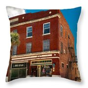 Small Town Shops Throw Pillow