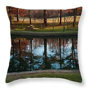 Small Urban Park Throw Pillow