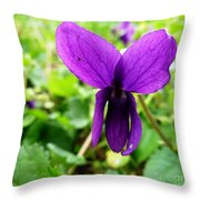 Small Violet Flower Throw Pillow