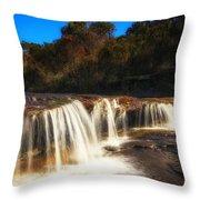 Small Waterfall In Australian Landscape  Throw Pillow