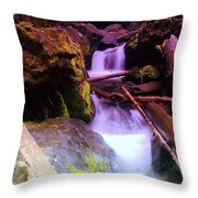 Small Waterfalls  Throw Pillow