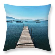 Small Wood Pier Throw Pillow