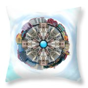 Small World In The Clouds Throw Pillow