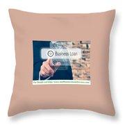 Smallbusinessloansdirectory Throw Pillow