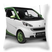 Smart Fortwo Electric Drive Throw Pillow