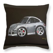 Smart Porsche Throw Pillow