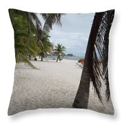 Smathers Beach - Key West Throw Pillow