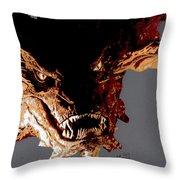 Smaug The Terrible Throw Pillow