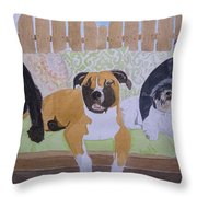 S.m.a.w.l Fosters Throw Pillow