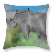 Smear Throw Pillow