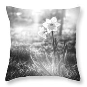 Smell Of The March Throw Pillow