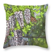 Smell The Moutain Laurel Throw Pillow