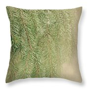 Smell The Pine Throw Pillow