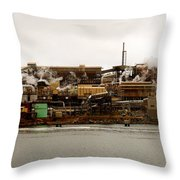 Smelter Works Throw Pillow