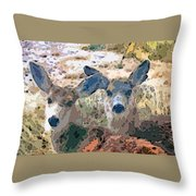 Smidgeon And Rudi 2 Throw Pillow