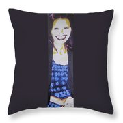 Smile Of Beauty Throw Pillow