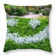 Smiley Face Garden Too Throw Pillow