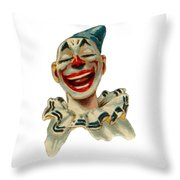 Smiley Throw Pillow by ReInVintaged