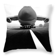 Smiling C Five Galaxy Throw Pillow