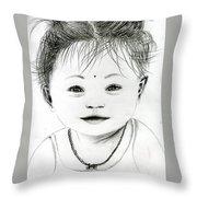 Smiling Child Throw Pillow