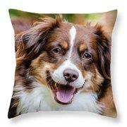 Smiling Dottie Throw Pillow