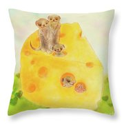 They Are All Smiling Throw Pillow