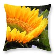 Smiling Flower Throw Pillow