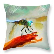 Smiling From Ear To Ear Throw Pillow