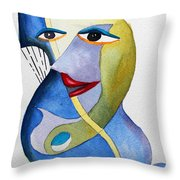 Smiling Girl Throw Pillow