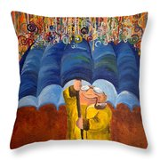 Smiling In The Rain Throw Pillow