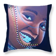 Smiling Kid Throw Pillow