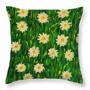 Smiling Margaret's Flowers Throw Pillow