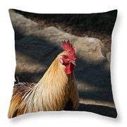 Smiling Rooster Throw Pillow