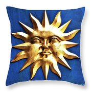 Smiling Sunshine Throw Pillow